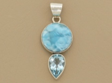 Larimar with Blue Topaz