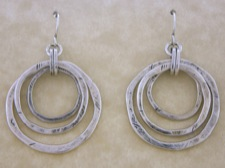 Three Ring Earrings