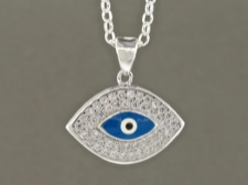 Eye Bead CZ Necklace
