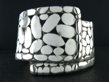 Sterling Abstract Cuff