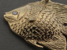 Angelfish Pendant 14k