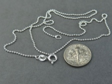 Chain, Sterling Bead 18in