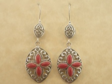 Ornate Coral Earrings