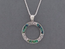 Inlaid Circle Necklace
