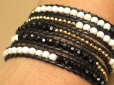 Beaded Leather Wrap