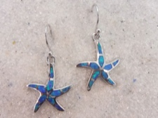 Opal Starfish Earrings