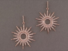 Rose Silver Sun Earrings