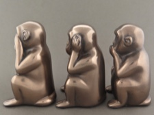 Three Wise Monkeys See No, Hear No, Speak No Evil