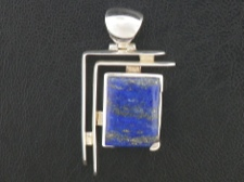 Lapis Abstract Pendant