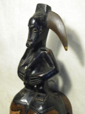 Handpainted Guro Fertility Mask Ivory Coast