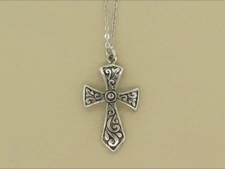Cross Necklace Sterling