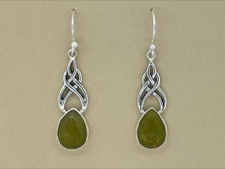 STJ Opal Celtic Earrings