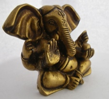 Brass Ganesha - God of Auspicious Beginnings