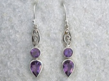 Amethyst Long Dangle