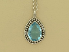Blue Topaz Tear Necklace