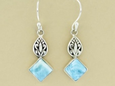 Larimar Ornate Dangle