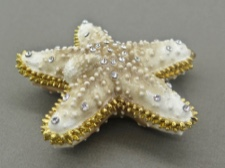 Enamel Box - Starfish with Austrian Crystals