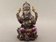 Miniature Ganesha - Seated on Throne