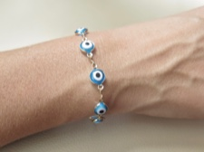 Eye Bead Linked Bracelet