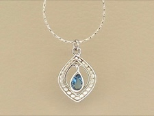 Blue Topaz Tear Drop
