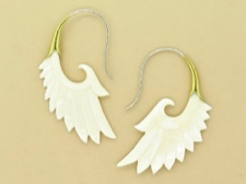 Bone Wing Earrings
