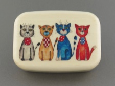 Secret Box - 4 Colorful Cats - Aspen Hardwood