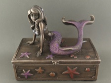 Beautiful Mermaid Guarding Pirate Chest