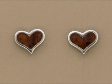Koa Wood Heart Posts