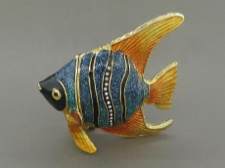 Enamel Box - Tropical Fish with Austrian Crystals