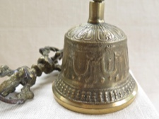 Tibetan Meditation Hand Bell with Double Dorje
