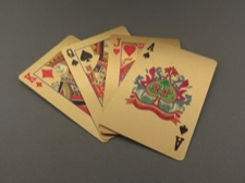 Gold Foil Playing Cards with Certificate