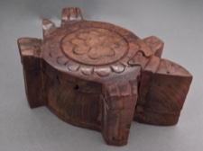 Handcarved Rosewood Puzzle Box - Turtle