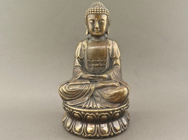 Bronze Buddha in Meditation Mudra - Click Image to Close
