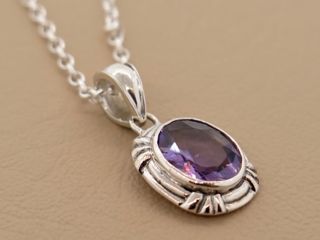 Amethyst Oval - Click Image to Close