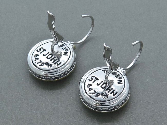 18.33N 64.79W Earrings - Click Image to Close