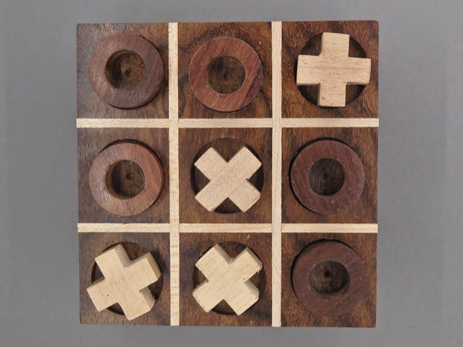 Tic Tac Toe Handmade Travel Size from India - Click Image to Close