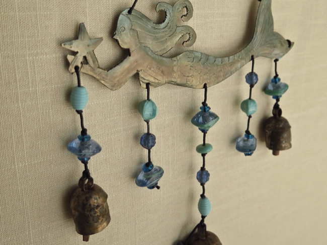 Gracefully Floating Mermaid Chime with Beads - Click Image to Close