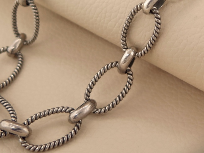 Sterling Link Chain - Click Image to Close
