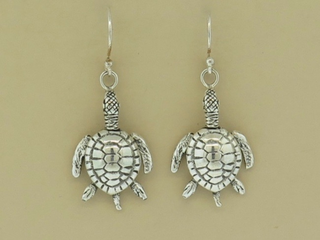 Sterling Turtle Dangles - Click Image to Close