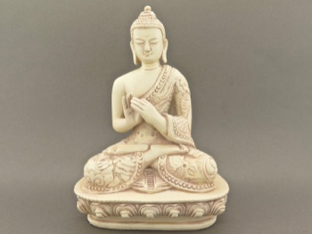 Buddha in Wheel of Dharma Teaching Mudra