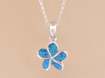 Opal Flower Necklace