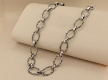 Sterling Link Chain
