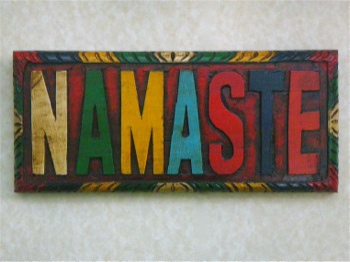 Namaste Plaque - Colorfully Handmade in Nepal