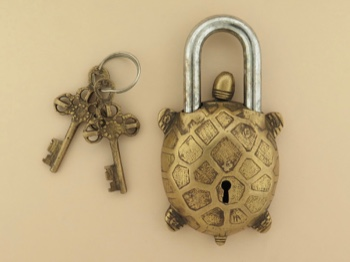Nepalese Bronze Turtle Functional Lock