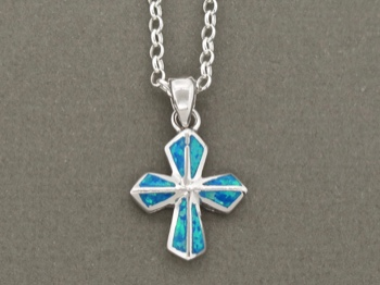 Blue Opal Cross