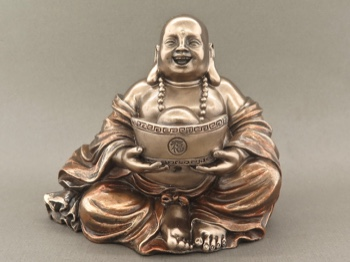 Bronze Finished Seated Happy Buddha