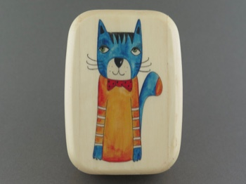 Secret Box - Colorful Cat - Aspen Hardwood